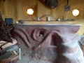 Wood-fired cob bath, Plas Helyg
